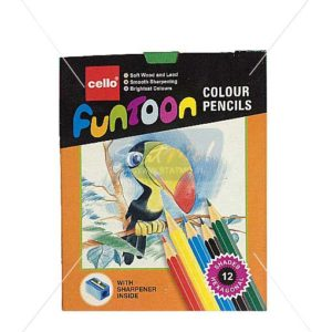 Cello Funtoon Colour Pencils 12 Shades by StatMo.in