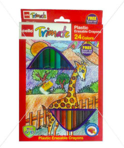 Cello Tvimate Plastic Erasable Crayons 24 Colours by StatMo.in