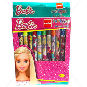 Cello Barbie Funtoons Sketch Pens Set of 12 by StatMo.in