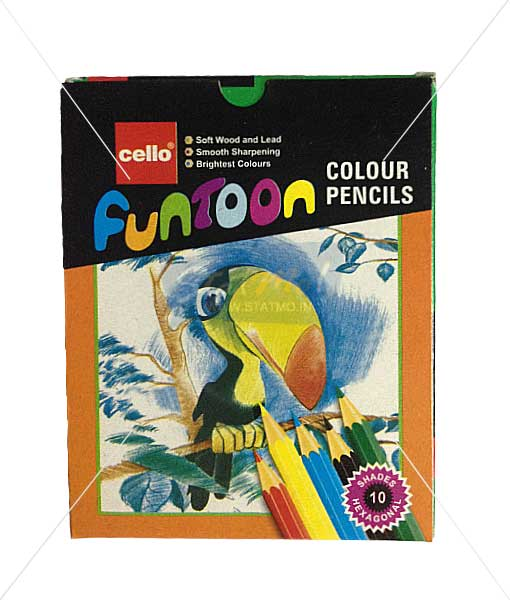Cello Funtoon Colour Pencils 10 Shades by StatMo.in