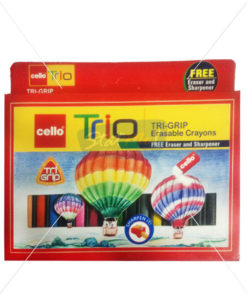 Cello Trio Tri-Grip Erasable Crayons 15 Colours by StatMo.in