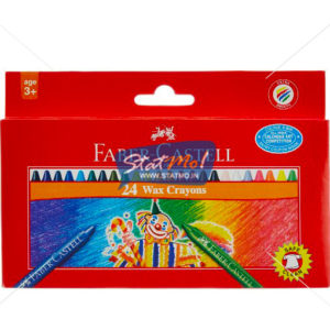 Faber Castell Wax Crayons Regular Long 24 Shade by StatMo.in