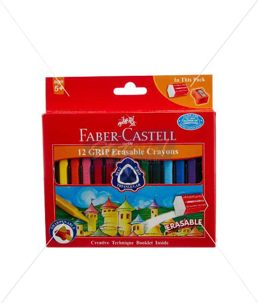 Faber Castell 12 Grip Erasable Crayons by StatMo.in