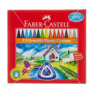 Faber Castell 15 Erasable Plastic Crayons by StatMo.in