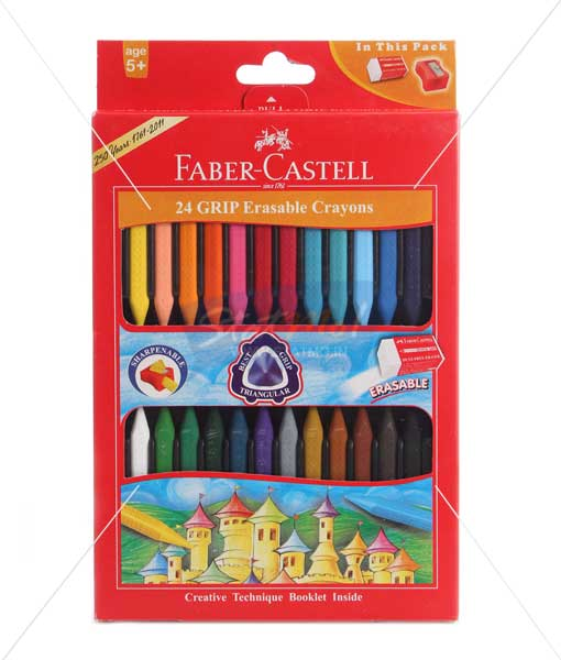 Faber Castell 24 Grip Erasable Crayons by StatMo.in
