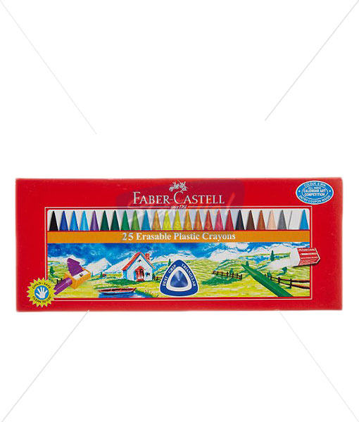 Faber Castell 25 Erasable Plastic Crayons by StatMo.in