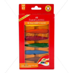 Faber Castell 6 First Grip Crayons by StatMo.in