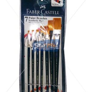 Faber Castell 7 Paint Brushes Synthetic Hair Flat Brush by StatMo.in