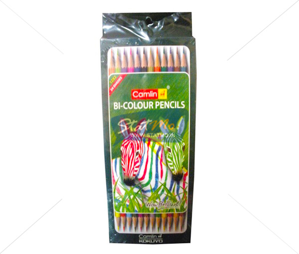 Camlin BIColour Pencils 24 Shades by StatMo.in