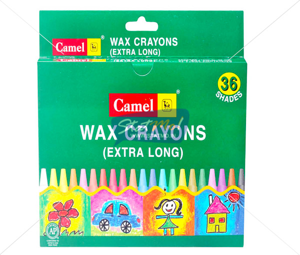 Camlin Extra Long Wax Crayon 36 Shades by StatMo.in