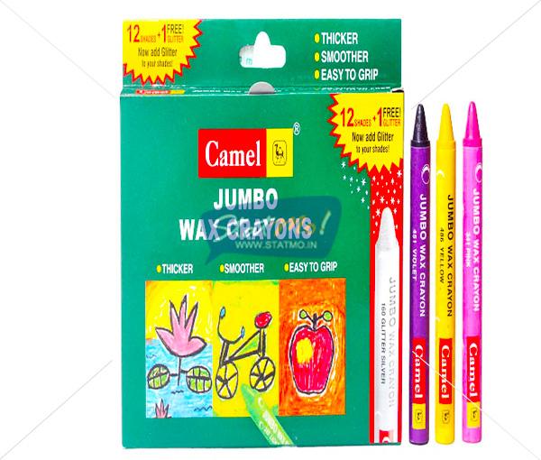 Camlin Jumbo Wax Crayon 12 Shades by StatMo.in