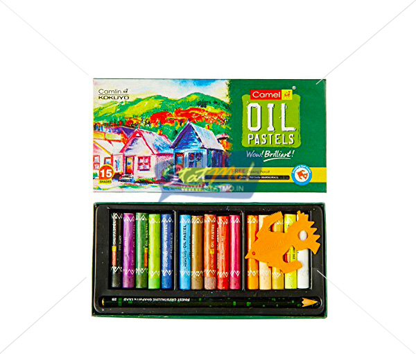 Camlin Oil Pastel 15 Shades by StatMo.in