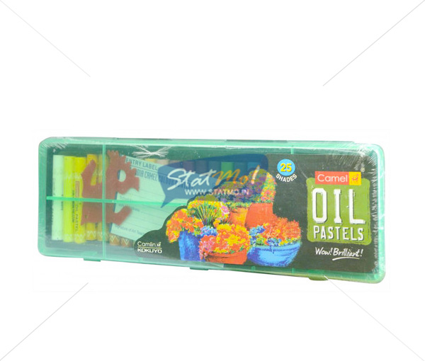 Camlin Oil Pastel 25 Shades In Plastic Box by StatMo.in