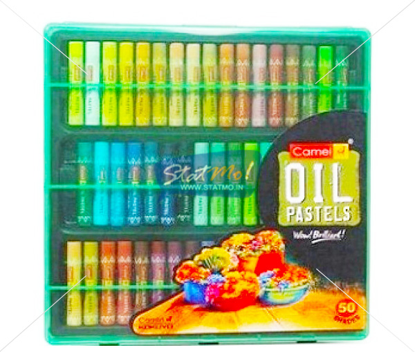 Camlin Oil Pastel 50 Shades In Plastic Box by StatMo.in