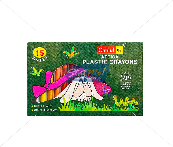 Camlin Plastic Crayon 15 Shades by StatMo.in