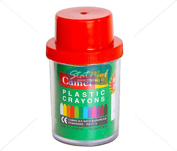 Camlin Plastic Crayon Junior 12 Shades by StatMo.in