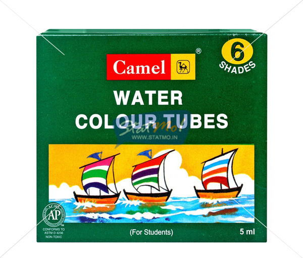 Camlin Students Water Colour Tubes 6 Shades by StatMo.in