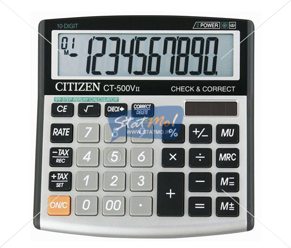 Citizen Calculator Check & Correct Series (10 Digits) by StatMo.in