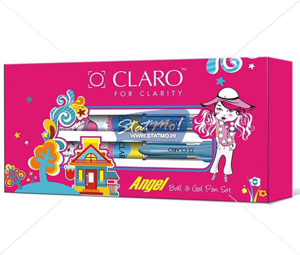 Claro Angel Ball and Gel Pen Set of 5 by StatMo.in
