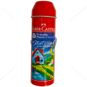 Faber Castell 12 Erasable Plastic Crayons Tin Pack by StatMo.in