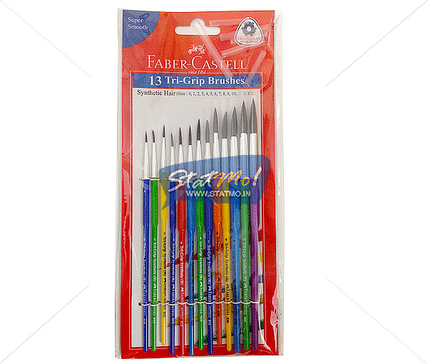 Faber Castell 13 Tri Grip Brushes by StatMo.in