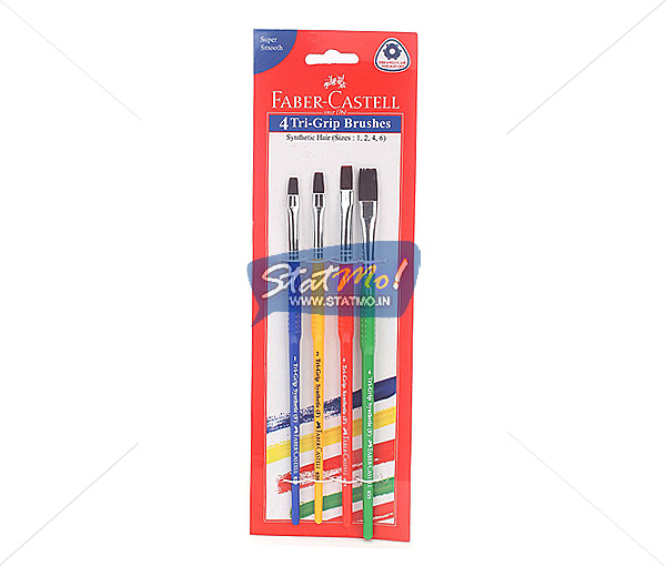Faber Castell 4 Tri Grip Brushes by StatMo.in
