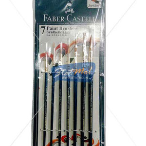 Faber Castell 7 Paint Brushes Synthetic Hair Round Brush by StatMo.in