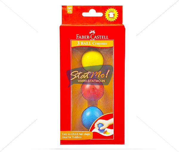 Faber Castell Ball Plastic Crayons by StatMo.in