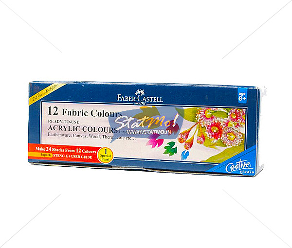 Faber Castell Fabric Colours 12 Shades by StatMo.in