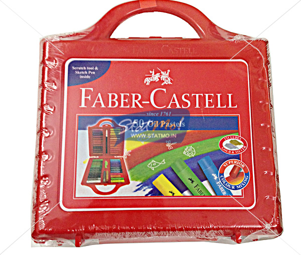 Faber Castell Oil Pastel 50 With Carry Case by StatMo.in