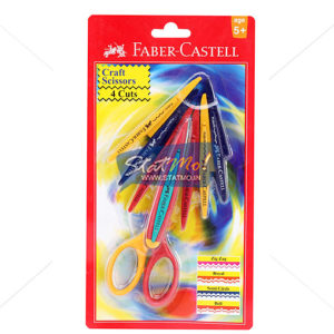 Faber Castell Scissors Craft 4 Designs Cutting by StatMo.in