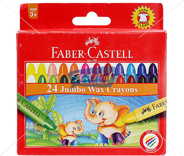 Faber Castell Wax Crayon Jumbo 24 Shades by StatMo.in