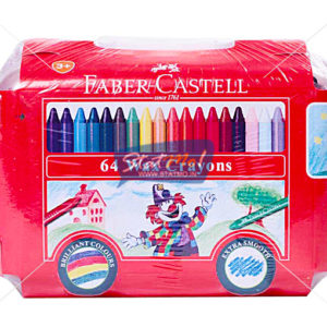 Faber Castell Wax Crayons Bus 64 Shades by StatMo.in