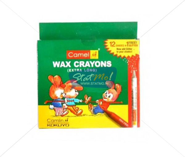 Camlin Extra Long Wax Crayon 12 Shades by StatMo.in