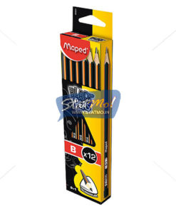 Maped Black Peps Graphite Pencile – B Box of 2 Pencils by StatMo.in