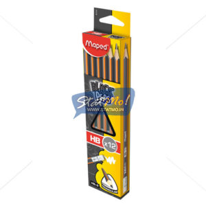 Maped Black Peps Graphite Pencile – HB Box Of 12 Pencil by StatMo.in