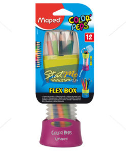 Maped Color Pencil (12 Pencils In Retractable Pot) by StatMo.in