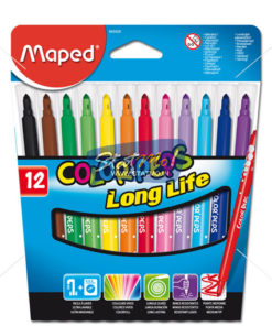 Maped Felt Pens X 12 In Cardboard Pack by StatMo.in
