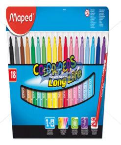 Maped Felt Pens X 18 In Cardboard Pack by StatMo.in