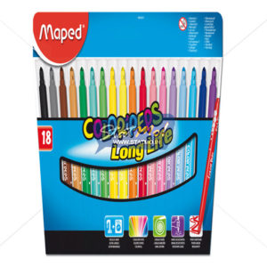 Maped Felt Pens X 18 In Cardboard Pack by StatMo.in