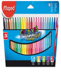 Maped Felt Pens X 24 In Cardboard Pack by StatMo.in