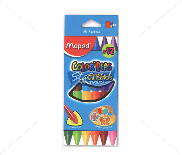 Maped Oil Pastel In Box of 12 by StatMo.in