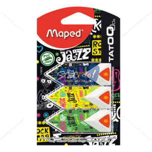 Maped Triangular Tatoo Pyramide Eraser by StatMo.in