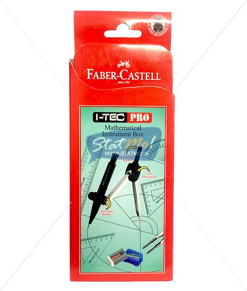 Faber Castell I-Tec Pro Mathematical Instrument Box by StatMo.in