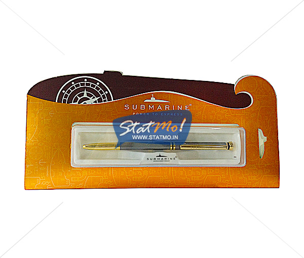 Submarine Hat Gold Ball Pen by StatMo.in