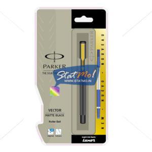 Parker Vector Matte Black GT Roller Ball Pen by StatMo.in