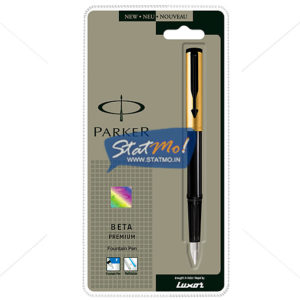 Parker Beta Premium Gold Fountain Pen by StatMo.in