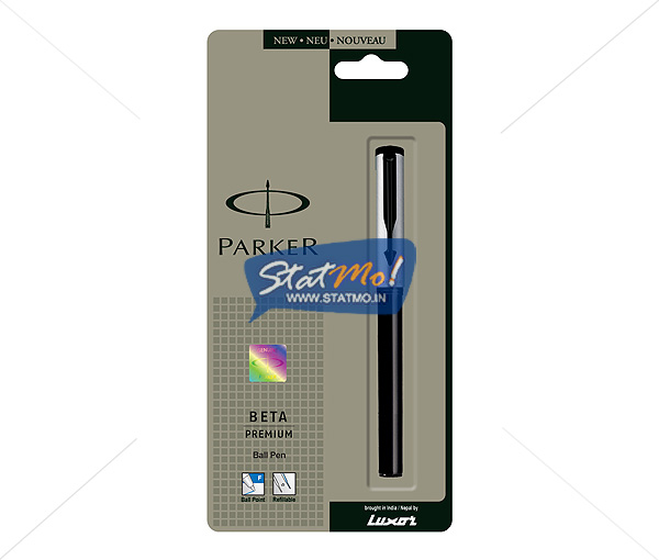 Parker Beta Premium Silver Ball Pen by StatMo.in