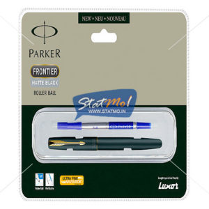 Parker Frontier Matte Black GT Roller Ball Pen by StatMo.in