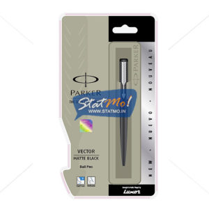 Parker Vector Matte Black CT Ball Pen by StatMo.in